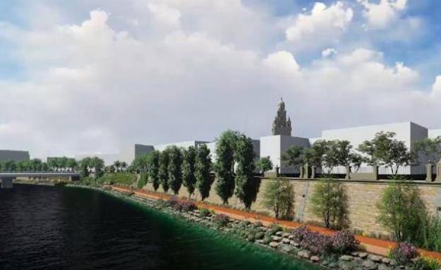 Más de 4.000 árboles y especies arbustivas y un sendero peatonal darán vida al margen derecho del río Segura