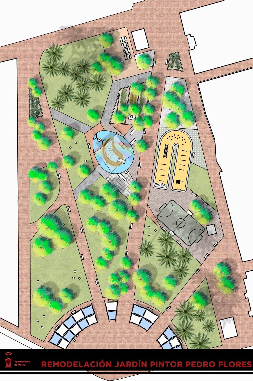 El nuevo jardín Pintor Pedro Flores